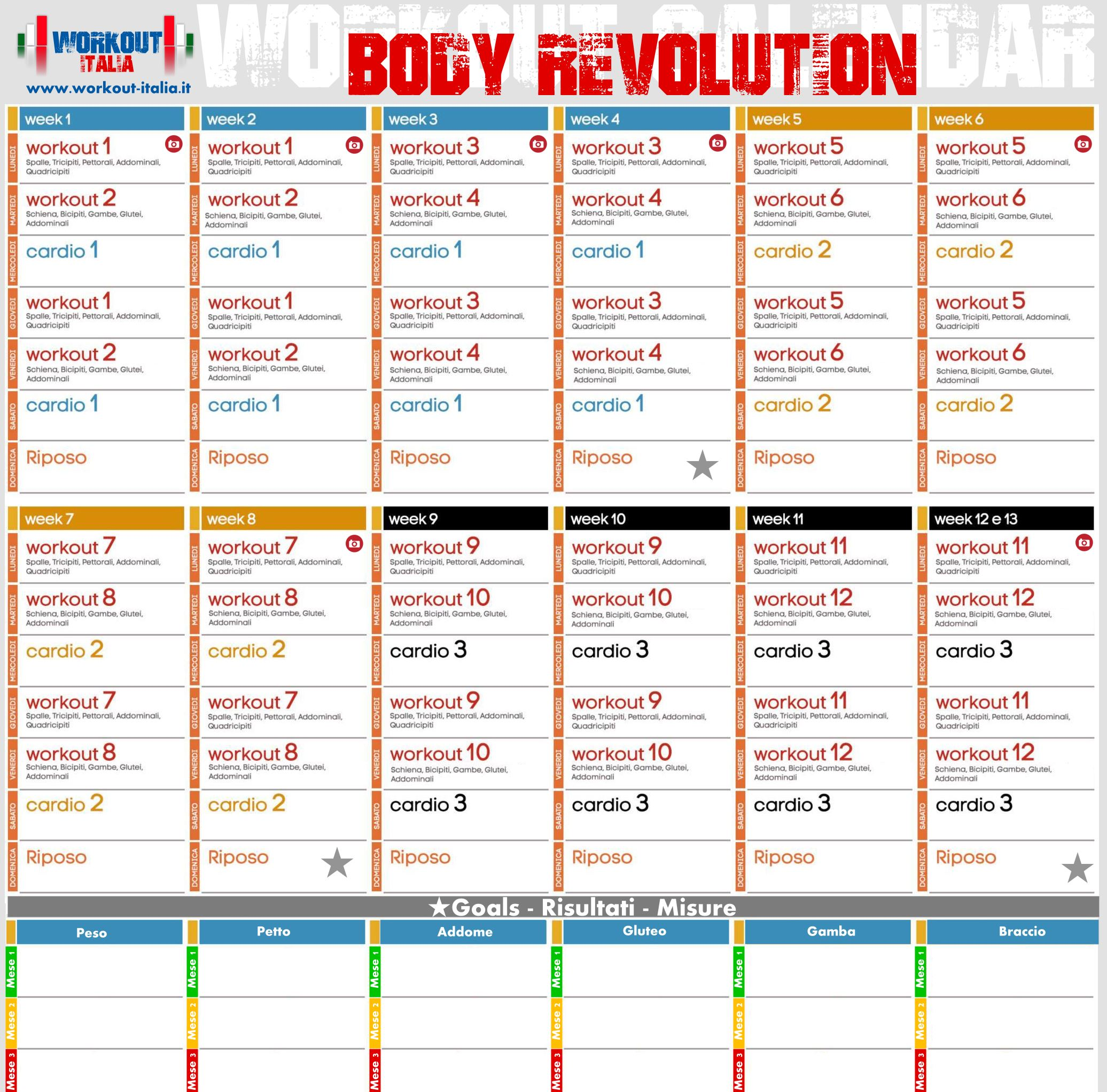 Estremamente Body Revolution - Workout - Workout-Italia DE37
