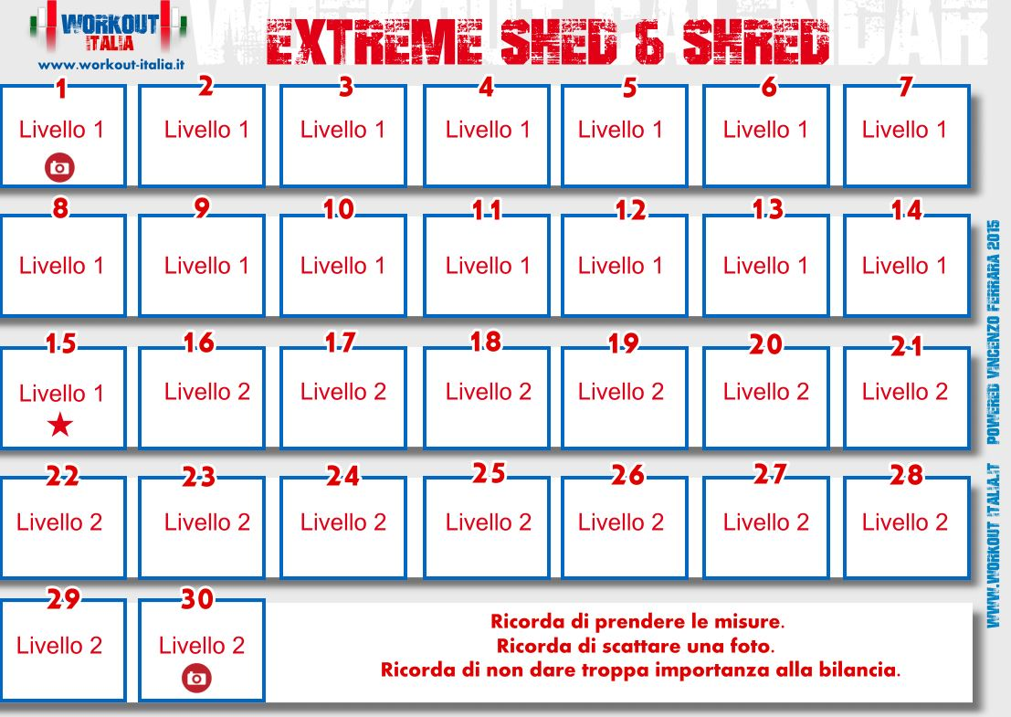 Extreme Shed Amp Shred Workout Italia
