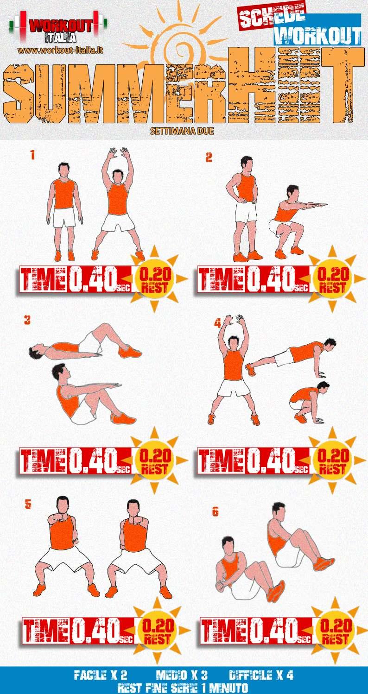 scheda hiit workout