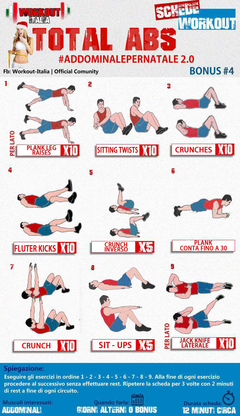 workout italia test