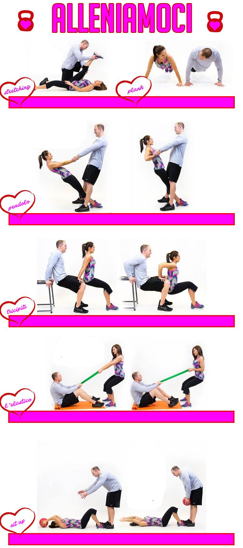 Alleniamoci: fitness in coppia