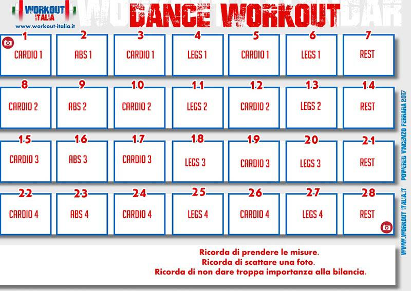 calendario dance workout by Workout Italia